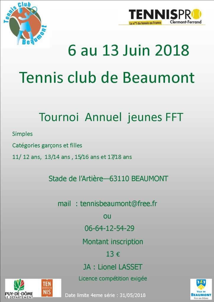 tournoi jeunes 2018 Beaumont