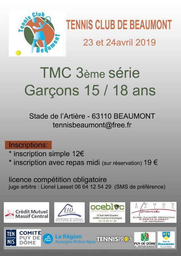 TMC 3e serie garcon 15-18 ans