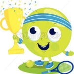 emoticon champion tennis